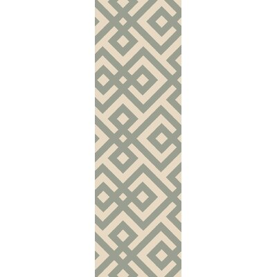 Maggie Hand-Hooked Green Area Rug Rug Size: Runner 26 x 8