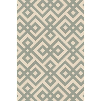 Maggie Hand-Hooked Green Area Rug Rug Size: 3'3