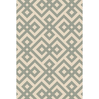 Maggie Hand-Hooked Green Area Rug Rug Size: 5' x 7'6