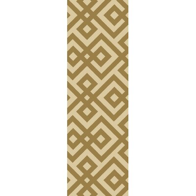 Marina Brown Hand-Hooked Brown Area Rug Rug Size: Runner 26 x 8