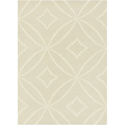 Hand-Tufted Beige/Ivory Area Rug
