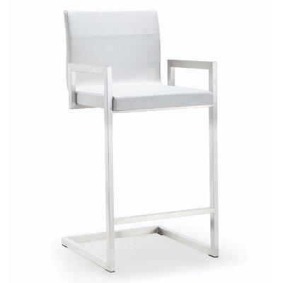 Darryl 26 Bar Stool Upholstery: White