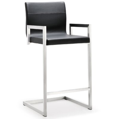 Darryl 26 Bar Stool Upholstery: Black