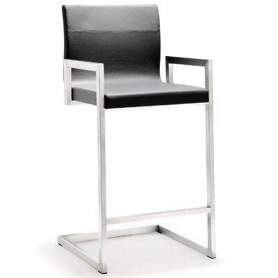 Darryl 26 inch Bar Stool Upholstery: Gray