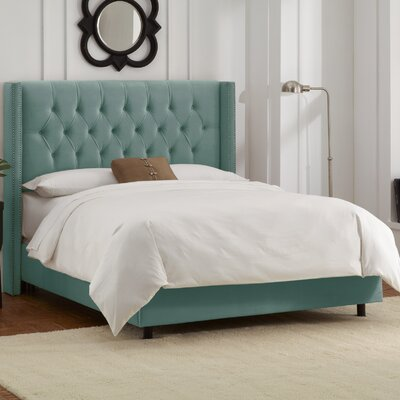 Davina Upholstered Panel Bed Size: King, Color: Laguna