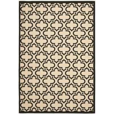 Riskin Cream/Black Indoor/Outdoor Area Rug Rug Size: Rectangle 79 x 10
