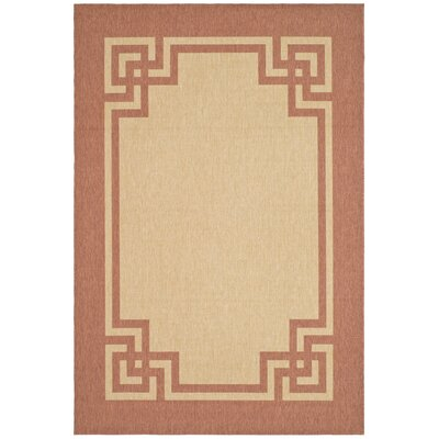 Deco Frame Beige / Terracotta Area Rug Rug Size: Rectangle 53 x 77