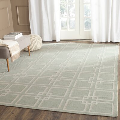 Dance Hand-Tufted Fennel Seed Green Area Rug Rug Size: 8 x 10