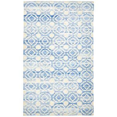 Reginald Hand-Woven Ocean Area Rug Rug Size: Rectangle 86 x 116