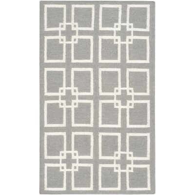 Dance Flat Weave Cement Gray Area Rug Rug Size: 3 x 5