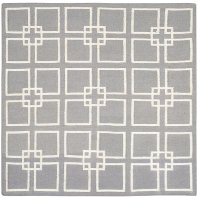 Dance Flat Weave Cement Gray Area Rug Rug Size: Square 7 x 7