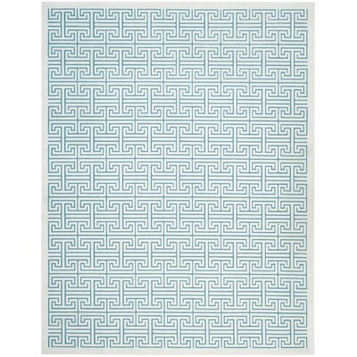 Maspeth Ivory/Turquoise Area Rug Rug Size: Rectangle 8 x 10