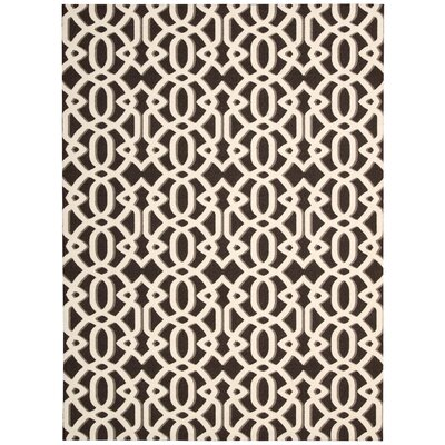 Stine Brown/Ivory Area Rug Rug Size: Rectangle 8 x 10