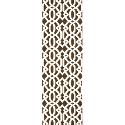Stine Brown/Ivory Area Rug Rug Size: Runner 26 x 8