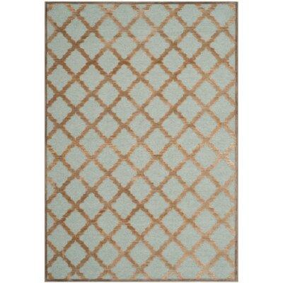 Goetz Blue/Brown Area Rug Rug Size: 27 x 4