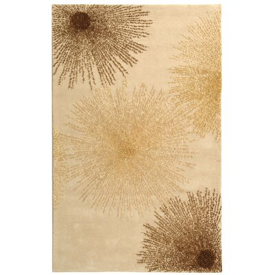Germain Hand-Tufted Beige Area Rug Rug Size: 6 x 9