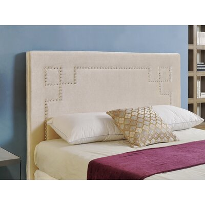 Hickman Upholstered Panel Headboard Size: Full, Upholstery: Grey