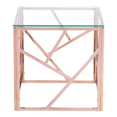 Rosalez End Table Color: Rose Gold