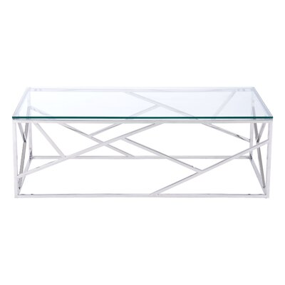 Rosalez Coffee Table Base Finish: Stainless Steel