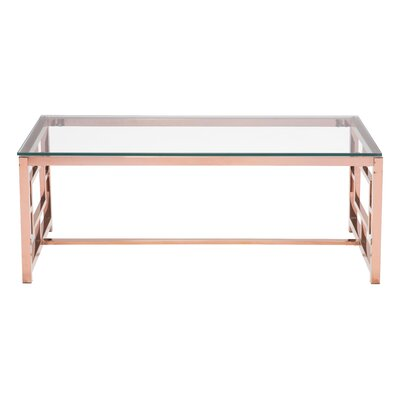 Rohrbach Coffee Table Base Color: Rose Gold