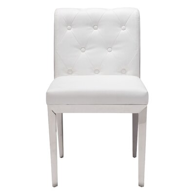 Roddy Parsons Chair Upholstery: White