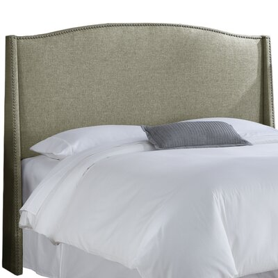 Munro Wingback Headboard Size: King, Upholstery: Groupie Pewter