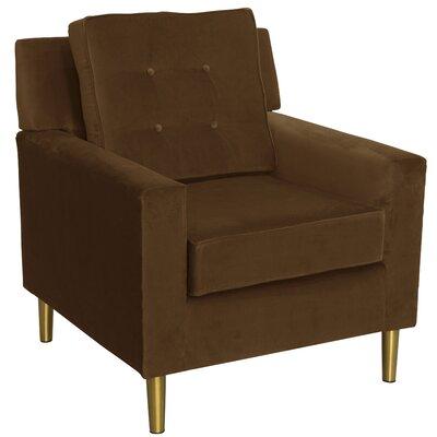 Rabin Cotton Arm Chair Fabric: Chocolate