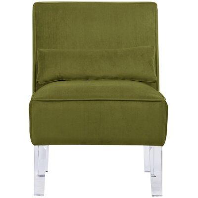 Thurston Slipper Chair Upholstery: Velvet Apple Green