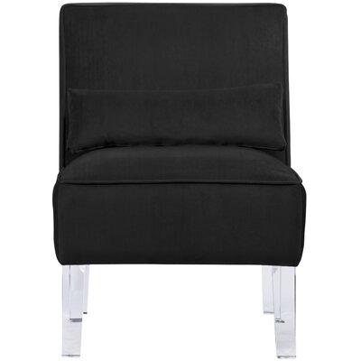 Ralston Slipper Chair Fabric: Black