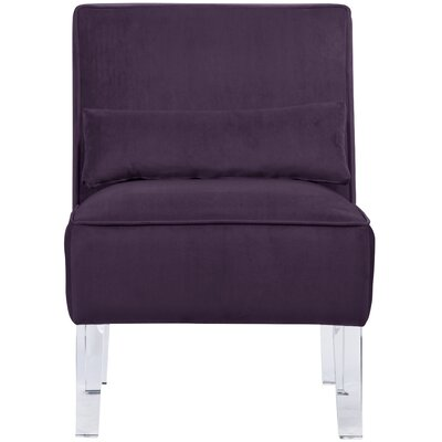 Thurston Slipper Chair Upholstery: Velvet Aubergine
