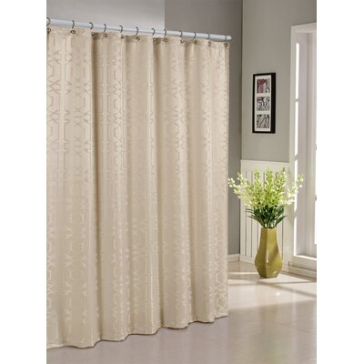 Streisand Shower Curtain Color: Ivory