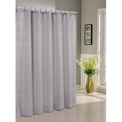 Barbro Shower Curtain Color: Silver