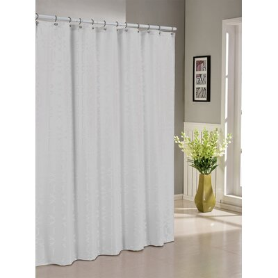 Streisand Shower Curtain Color: White