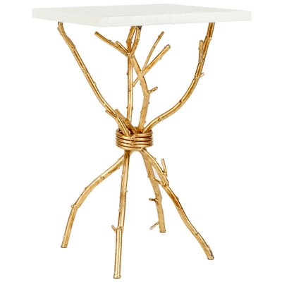 Noble End Table Finish: White / Gold