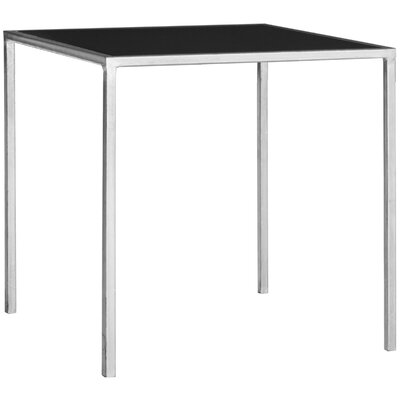 Mikayla End Table Color: Silver / Black Glass Top