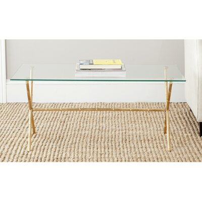 Mitsuwa Coffee Table Color: Gold / Clear