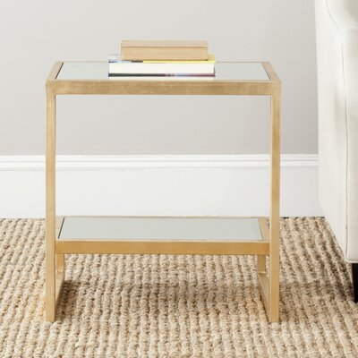 Mira End Table Color: Gold