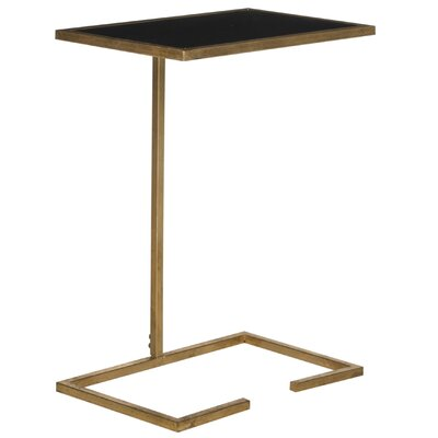 Bilertine End Table Color: Gold / Black