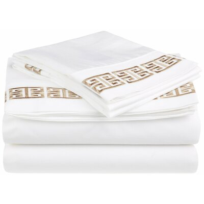 Gillen 200 Thread Count 100% Cotton Sheet Set Color: Taupe, Size: Queen