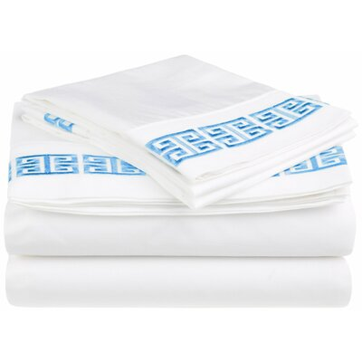 Bourg 200 Thread Count 100% Cotton Sheet Set Size: California King, Color: Light Blue