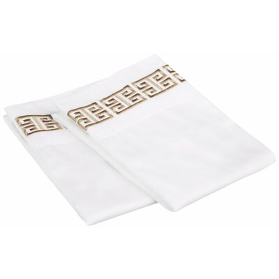 Bourg Cotton Pillowcase Size: King, Color: Taupe