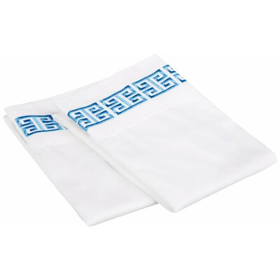 Bourg Cotton Pillowcase Size: King, Color: Light Blue