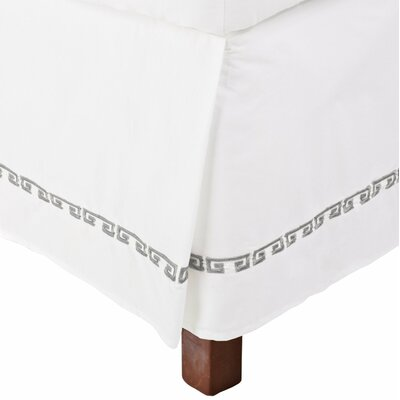 Bourg 200 Thread Count Bed Skirt Color: Grey, Size: Queen