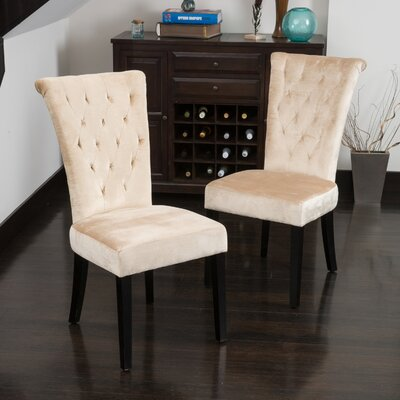 Brady Upholstered Dining Chair Upholstery: Champagne