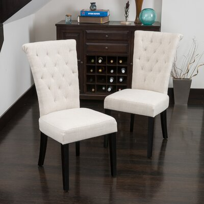 Brady Upholstered Dining Chair Upholstery: Light Beige