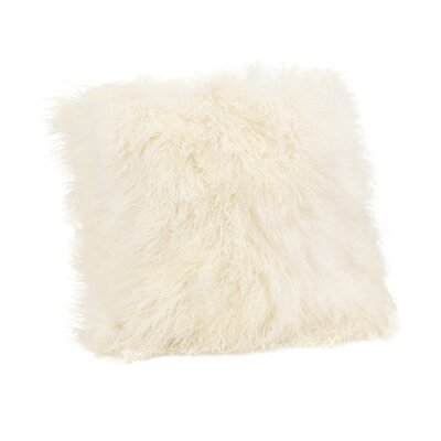 Reiser Polyester Throw Pillow Color: Cream White