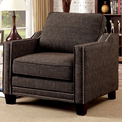 Follmer Chenille Armchair Upholstery: Brown
