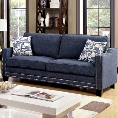 Follmer Sofa Upholstery: Blue