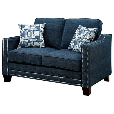 Follmer Loveseat Upholstery: Blue