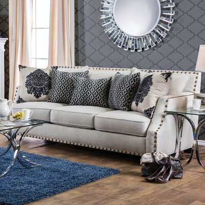 Humphrey Sloped Sofa Upholstery: Beige